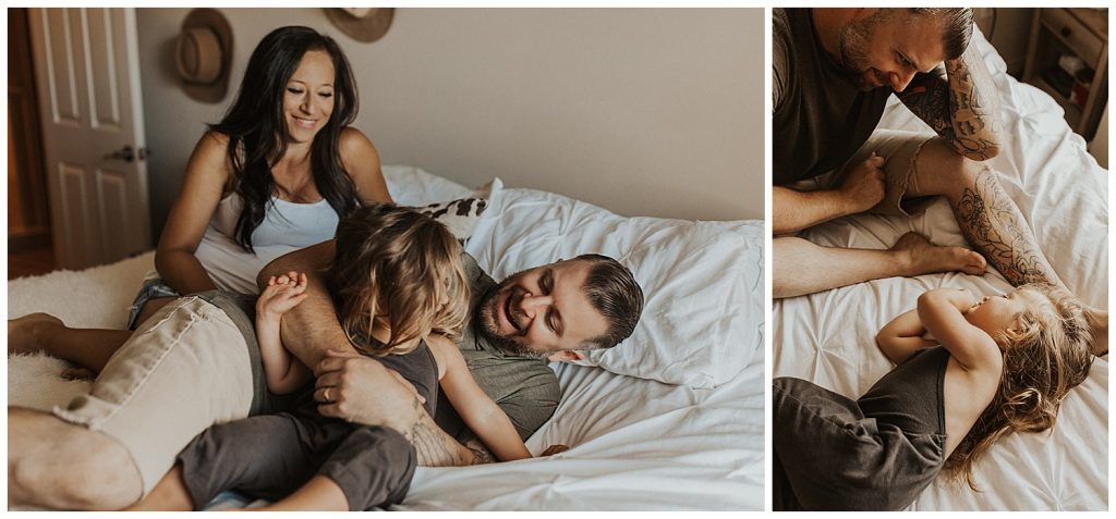 maternity session in home