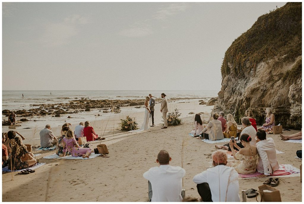 Ceremony of intimate wedding.